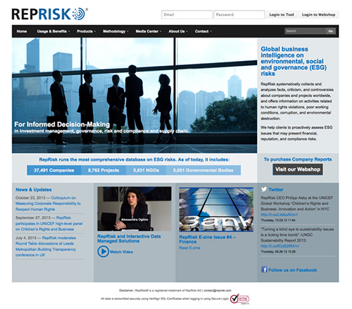Reprisk website