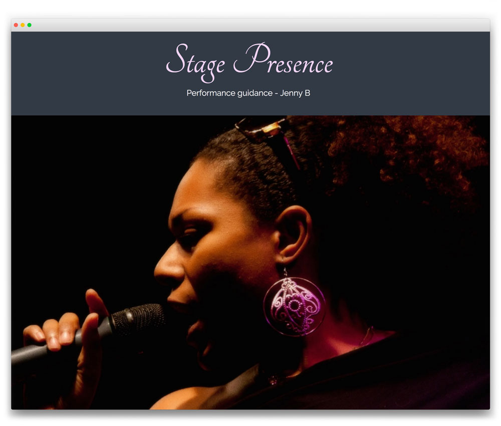Stage Presence - Responsive WordPress website