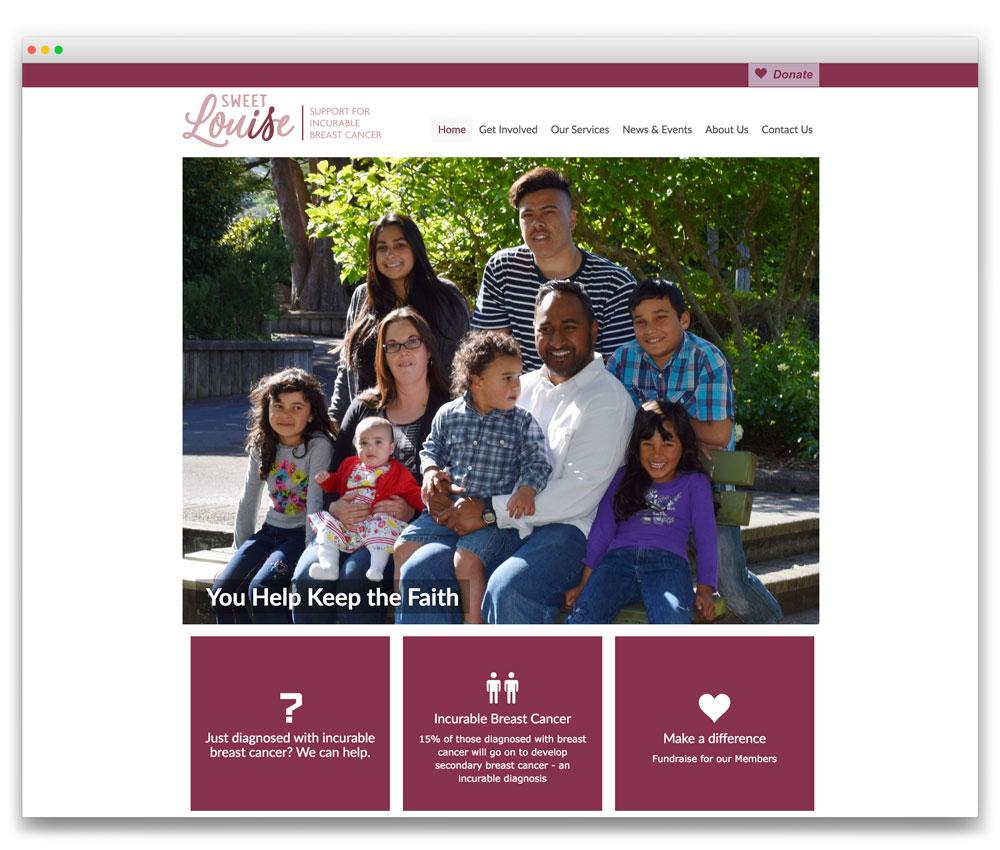 Sweet Louise - Responsive WordPress website