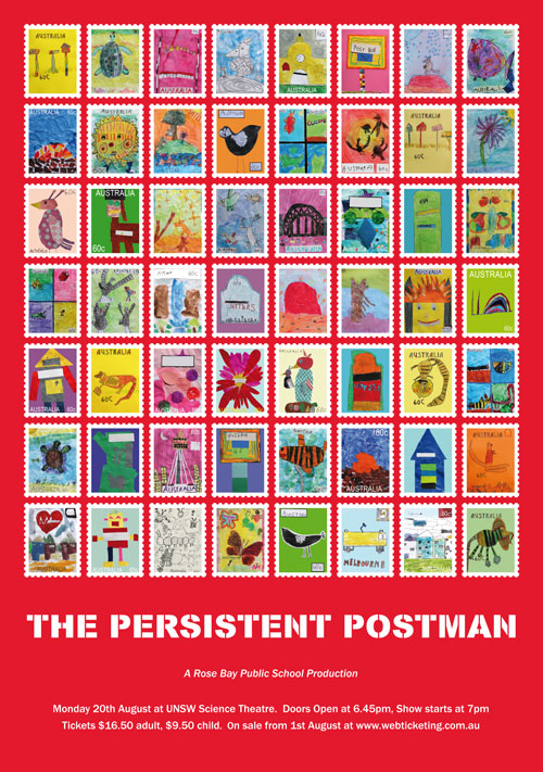 The Persistent Postman, poster design