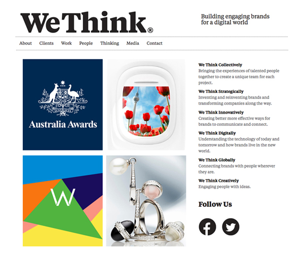 We Think website